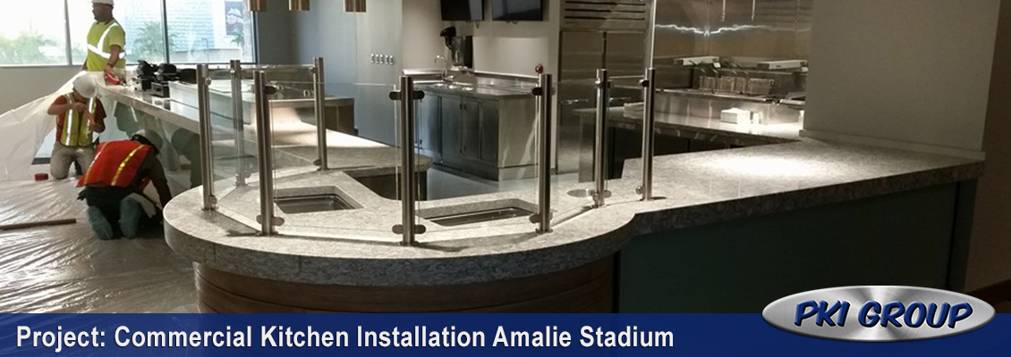 Commercial Kitchen Installation Amalie Stadium