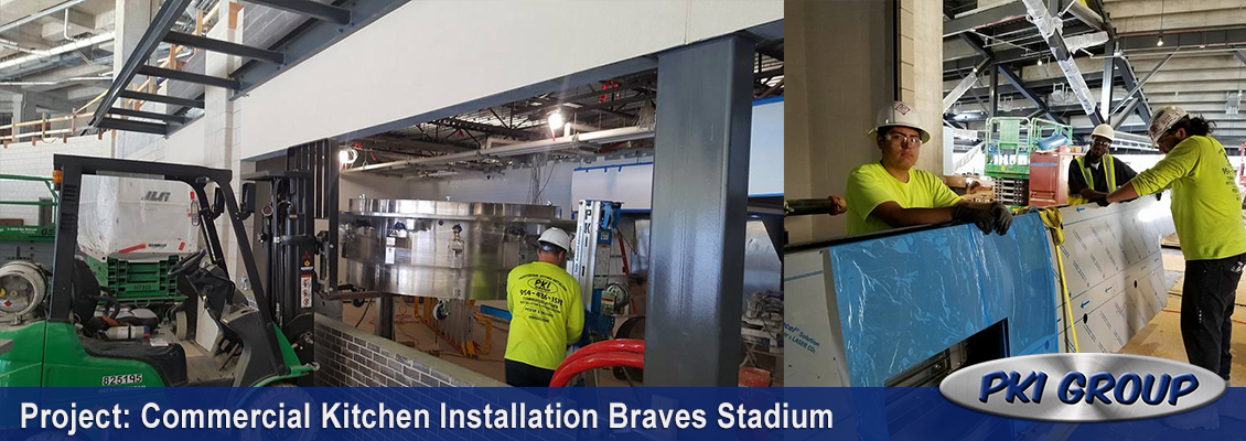 Commercial Kitchen Installation Braves Stadium
