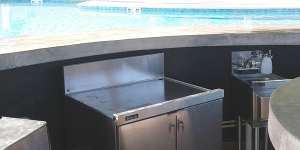 Virgin Islands Pool Bar Installation