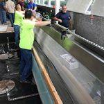 Stainless Steel Water Curtain Installation