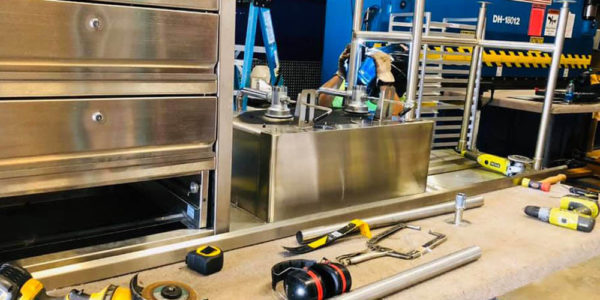 Stainless Steel Counter Drawer Modification Services
